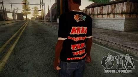 Endank Soekamti T-Shirt para GTA San Andreas segunda tela