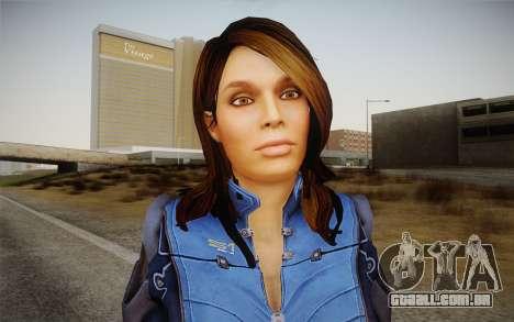 Ashley from Mass Effect 3 para GTA San Andreas terceira tela