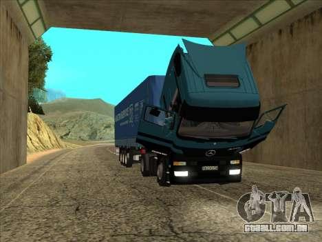 Mercedes-Benz Actros 1840 para GTA San Andreas vista direita