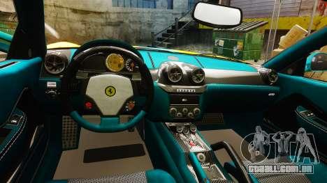 Ferrari 599 GTO PJ2 para GTA 4 vista interior