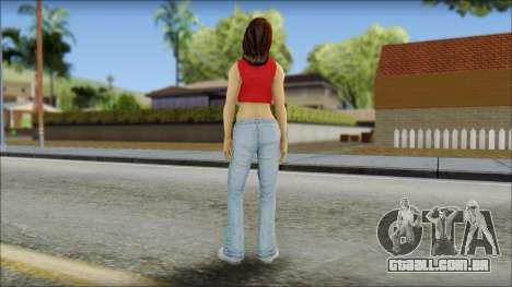 Young Street Girl para GTA San Andreas segunda tela