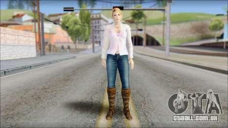 Sarah from Dead or Alive 5 v4 para GTA San Andreas