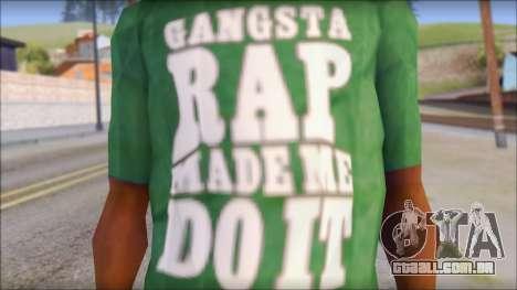 Ice Cube T-Shirt para GTA San Andreas terceira tela
