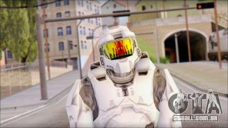 Masterchief White para GTA San Andreas terceira tela
