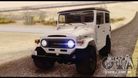 Toyota Land Cruiser (FJ40) 1978 para GTA San Andreas