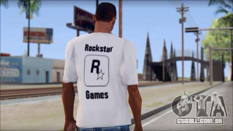 Rockstar Games White T-Shirt para GTA San Andreas segunda tela