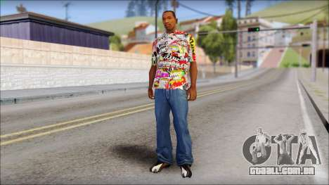 Sticker Bomb T-Shirt para GTA San Andreas terceira tela