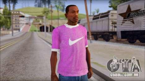 NIKE Pink T-Shirt para GTA San Andreas