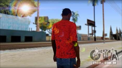 DVS T-Shirt para GTA San Andreas segunda tela