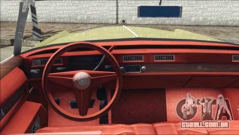 Cadillac Eldorado Stock para GTA San Andreas traseira esquerda vista