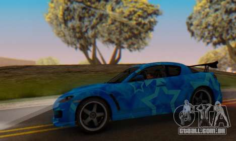 Mazda RX-8 VeilSide Blue Star para GTA San Andreas vista interior