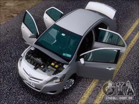 Toyota Yaris 2008 Sedan para GTA San Andreas vista superior