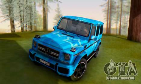 Mercedes-Benz G65 Blue Star para vista lateral GTA San Andreas