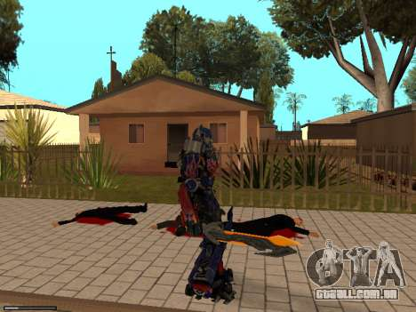 Optimus Sword para GTA San Andreas quinto tela