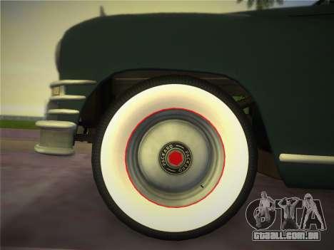 Packard Standard Eight Touring Sedan 1948 para GTA Vice City vista traseira esquerda