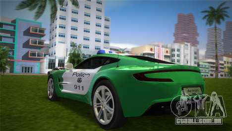 Aston Martin One-77 police para GTA Vice City deixou vista