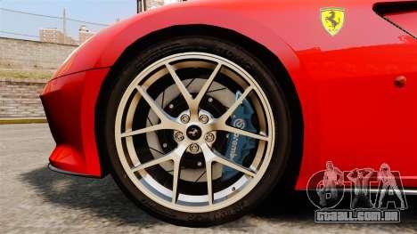 Ferrari 599 GTO PJ4 para GTA 4 vista de volta