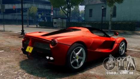 Ferrari LaFerrari para GTA 4 esquerda vista