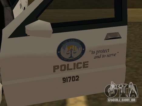 Police Original Cruiser v.4 para vista lateral GTA San Andreas