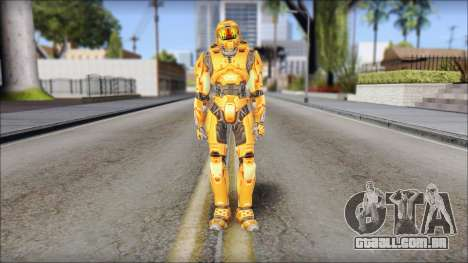 Masterchief Orange para GTA San Andreas segunda tela