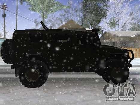 GÁS 2975 Tigre para GTA San Andreas vista direita