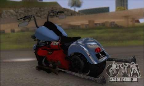 Boss Hoss v8 8200cc para GTA San Andreas traseira esquerda vista
