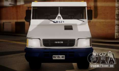 Iveco Daily Brinks para GTA San Andreas vista direita