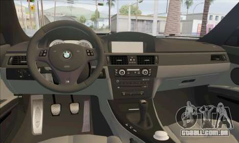 BMW M3 E92 Soft Tuning para GTA San Andreas vista interior