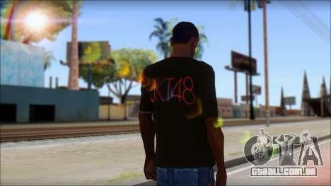 JKT48 Joyfull Kawai Shirt para GTA San Andreas segunda tela
