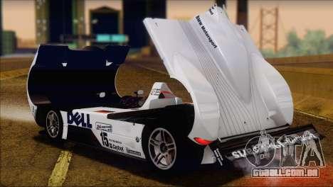 BMW 14 LMR 1999 para GTA San Andreas vista traseira