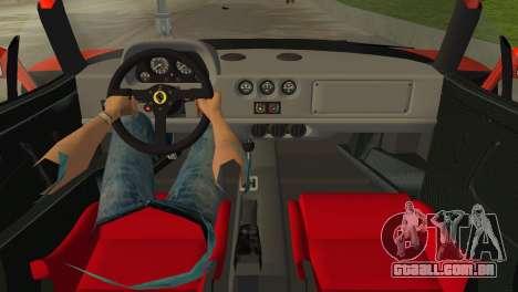 Ferrari F40 para GTA Vice City vista direita