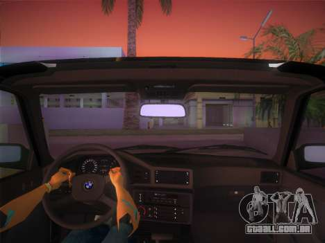 BMW 535i US-spec e28 1985 para GTA Vice City vista traseira