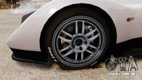 Pagani Zonda C12S Roadster 2001 v1.1 PJ2 para GTA 4 vista de volta