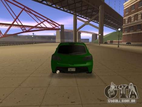 Mazda 3 para GTA San Andreas traseira esquerda vista