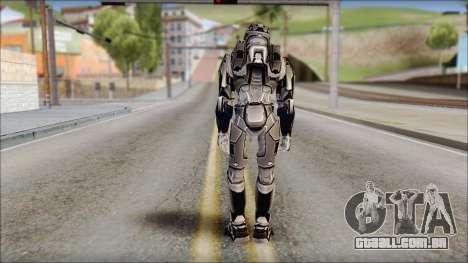 Masterchief Black from Halo para GTA San Andreas segunda tela