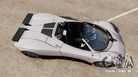 Pagani Zonda C12S Roadster 2001 v1.1 PJ2 para GTA 4 vista direita
