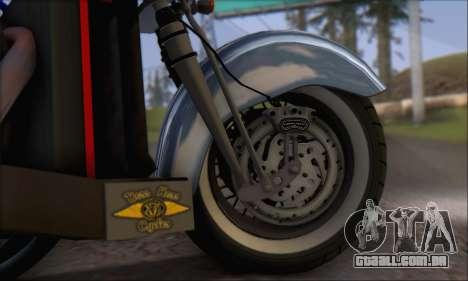 Boss Hoss v8 8200cc para GTA San Andreas vista interior
