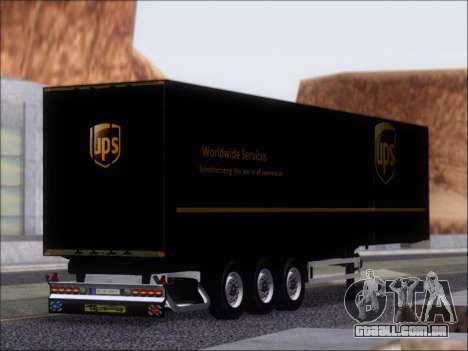 Прицеп United Parcel Service para GTA San Andreas vista direita
