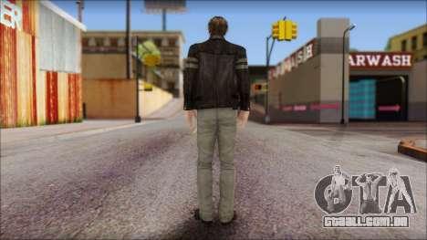 Leon Kennedy from Resident Evil 6 v1 para GTA San Andreas segunda tela