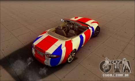 Jaguar XK 2007 para GTA San Andreas vista traseira