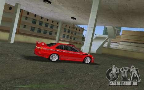 Mitsubishi Lancer Evolution 6 Tommy Makinen Edit para GTA Vice City vista traseira esquerda