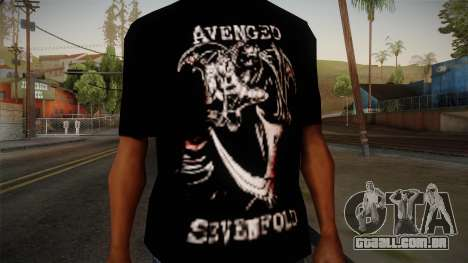 Avenged Sevenfold Reaper Reach T-Shirt para GTA San Andreas terceira tela