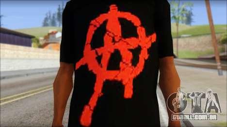 Anarchy T-Shirt Mod v2 para GTA San Andreas terceira tela