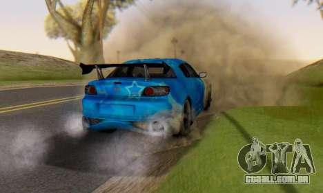 Mazda RX-8 VeilSide Blue Star para GTA San Andreas vista superior