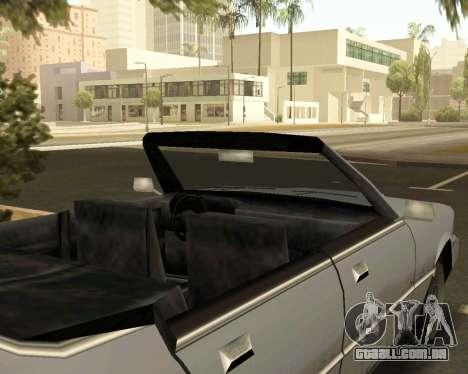 Sentinela Conversível para GTA San Andreas vista direita