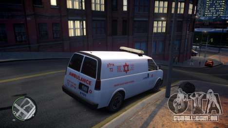 Israel MDA Ambulance para GTA 4 vista de volta