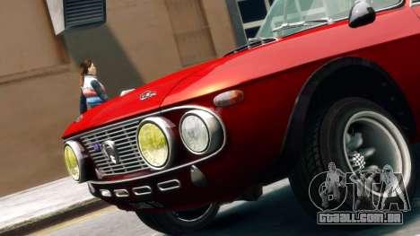 Lancia Fulvia HF para GTA 4 traseira esquerda vista