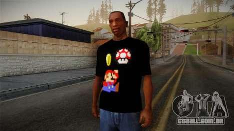 Mario Bros T-Shirt para GTA San Andreas