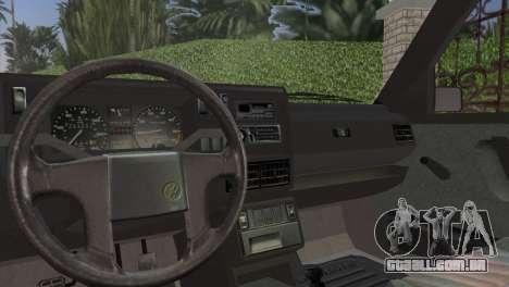 Volkswagen Golf II 1991 para GTA Vice City vista traseira