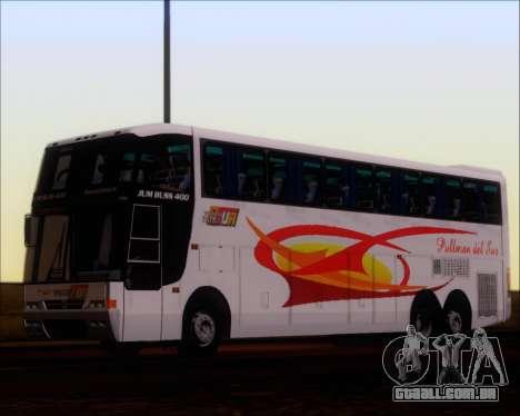 Busscar Jum Buss 400 Volvo B10R Pullman Del Sur para GTA San Andreas vista traseira